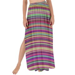 Wave Abstract Happy Background Maxi Chiffon Tie-Up Sarong
