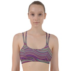 Wave Abstract Happy Background Line Them Up Sports Bra