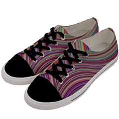 Wave Abstract Happy Background Men s Low Top Canvas Sneakers