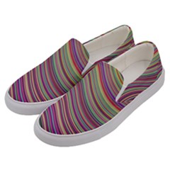 Wave Abstract Happy Background Men s Canvas Slip Ons