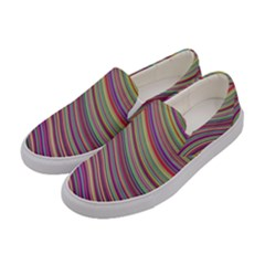 Wave Abstract Happy Background Women s Canvas Slip Ons