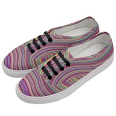 Wave Abstract Happy Background Women s Classic Low Top Sneakers