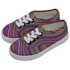 Wave Abstract Happy Background Kids  Classic Low Top Sneakers