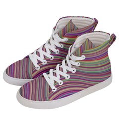 Wave Abstract Happy Background Men s Hi-Top Skate Sneakers