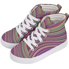 Wave Abstract Happy Background Kid s Hi-Top Skate Sneakers