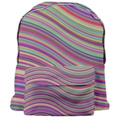 Wave Abstract Happy Background Giant Full Print Backpack