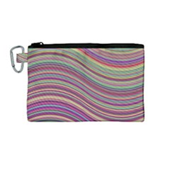 Wave Abstract Happy Background Canvas Cosmetic Bag (Medium)