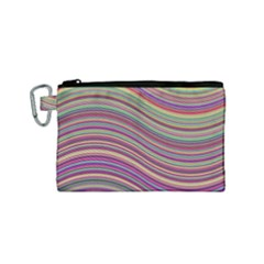 Wave Abstract Happy Background Canvas Cosmetic Bag (Small)