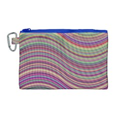 Wave Abstract Happy Background Canvas Cosmetic Bag (Large)