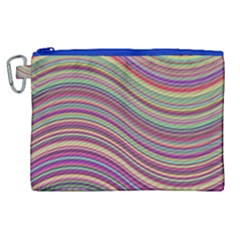 Wave Abstract Happy Background Canvas Cosmetic Bag (xl)