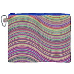 Wave Abstract Happy Background Canvas Cosmetic Bag (xxl)