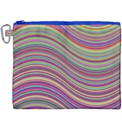 Wave Abstract Happy Background Canvas Cosmetic Bag (XXXL)