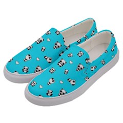 Panda Pattern Men s Canvas Slip Ons by Valentinaart