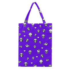Panda Pattern Classic Tote Bag by Valentinaart