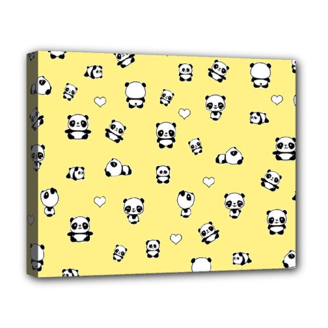 Panda Pattern Deluxe Canvas 20  X 16