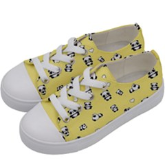 Panda Pattern Kids  Low Top Canvas Sneakers by Valentinaart