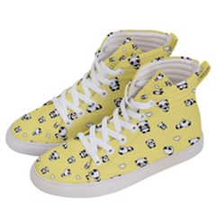 Panda Pattern Men s Hi Top Skate Sneakers by Valentinaart