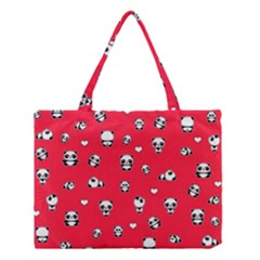 Panda Pattern Medium Tote Bag by Valentinaart