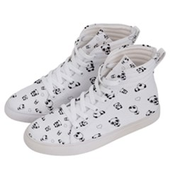 Panda Pattern Women s Hi Top Skate Sneakers by Valentinaart