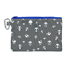 Panda Pattern Canvas Cosmetic Bag (large) by Valentinaart