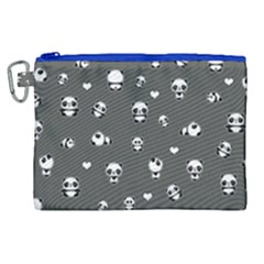 Panda Pattern Canvas Cosmetic Bag (xl) by Valentinaart