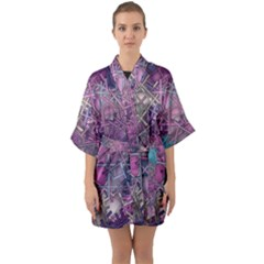 Fun,fantasy And Joy 1 Quarter Sleeve Kimono Robe by MoreColorsinLife
