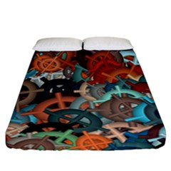 Fun,fantasy And Joy 2 Fitted Sheet (california King Size) by MoreColorsinLife