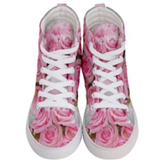 Pink Roses Men s Hi-top Skate Sneakers