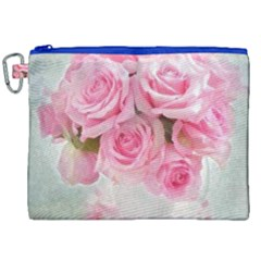 Pink Roses Canvas Cosmetic Bag (xxl) by 8fugoso