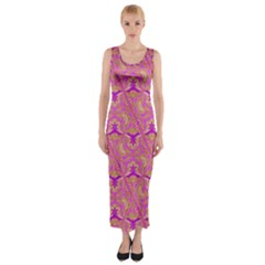 Universe 1 Pattern Fitted Maxi Dress