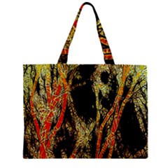 Artistic Effect Fractal Forest Background Zipper Mini Tote Bag by Amaryn4rt