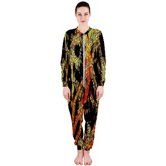 Artistic Effect Fractal Forest Background Onepiece Jumpsuit (ladies)