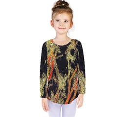 Artistic Effect Fractal Forest Background Kids  Long Sleeve Tee