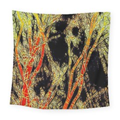 Artistic Effect Fractal Forest Background Square Tapestry (large)