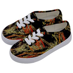 Artistic Effect Fractal Forest Background Kids  Classic Low Top Sneakers by Amaryn4rt