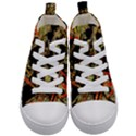 Artistic Effect Fractal Forest Background Kid s Mid-Top Canvas Sneakers View1