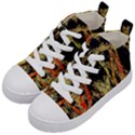 Artistic Effect Fractal Forest Background Kid s Mid-Top Canvas Sneakers View2