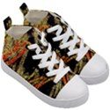 Artistic Effect Fractal Forest Background Kid s Mid-Top Canvas Sneakers View3