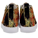 Artistic Effect Fractal Forest Background Kid s Mid-Top Canvas Sneakers View4