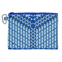 Flower Of Life Pattern Blue Canvas Cosmetic Bag (xl) by Cveti