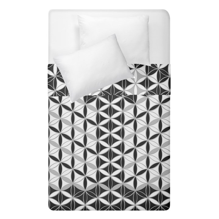 Flower Of Life Grey Duvet Cover Double Side (Single Size)