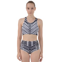 Flower Of Life Grey Racer Back Bikini Set