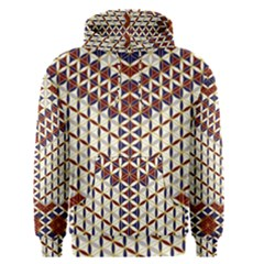 Flower Of Life Pattern Red Blue Men s Pullover Hoodie by Cveti