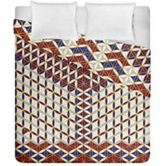 Flower Of Life Pattern Red Blue Duvet Cover Double Side (california King Size)