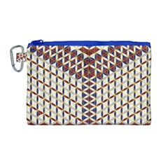 Flower Of Life Pattern Red Blue Canvas Cosmetic Bag (large)