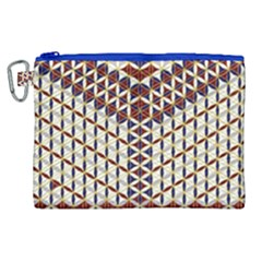 Flower Of Life Pattern Red Blue Canvas Cosmetic Bag (xl) by Cveti