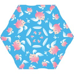 Flying Piggys Pattern Mini Folding Umbrellas by allthingseveryday