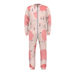 Pigs And Flowers Onepiece Jumpsuit (kids) by allthingseveryday