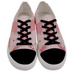 Pigs And Flowers Men s Low Top Canvas Sneakers