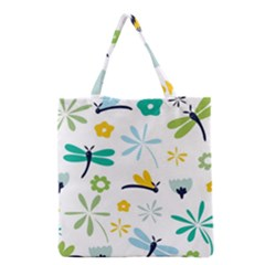 Busy Dragonflies Grocery Tote Bag by allthingseveryday